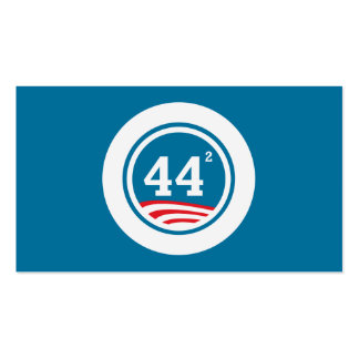 Obama - 44 Squared Business Card