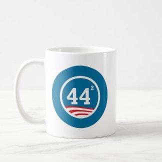 Obama - 44 Squared Coffee Mug