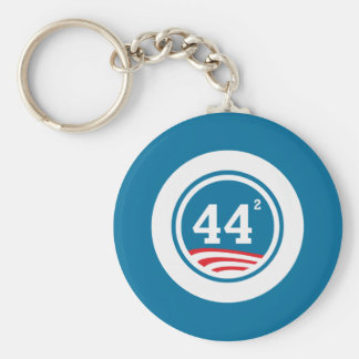 Obama - 44 Squared Keychain