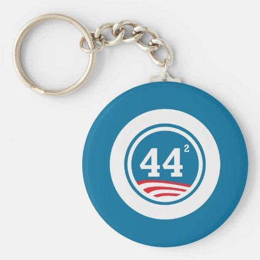 Obama - 44 Squared Key Chain