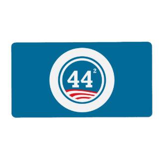 Obama - 44 Squared Label