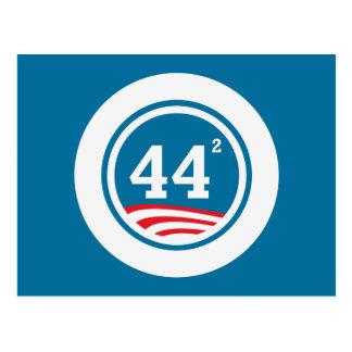 Obama - 44 Squared Postcard