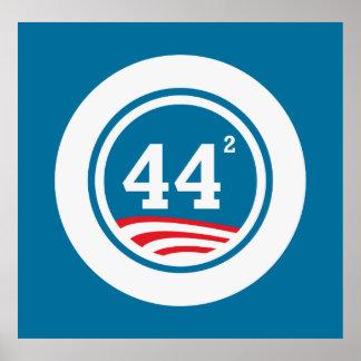 Obama - 44 Squared Poster