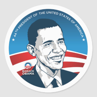 obama 44th #2 classic round sticker