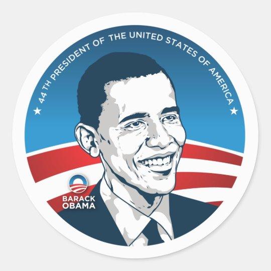 obama 44th #2 classic round sticker