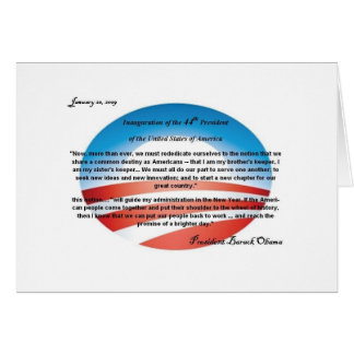 Obama 44th President Note Card