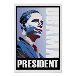 Obama - 44th President on a GIANT Posters