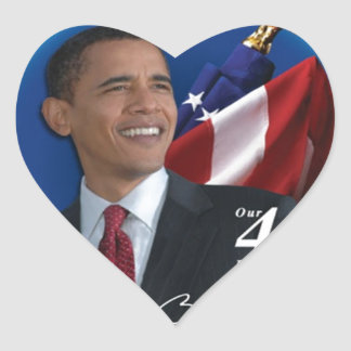 Obama 44th United States President Collection Heart Sticker