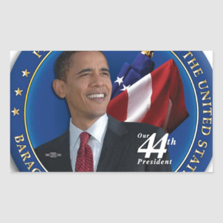Obama 44th United States President Collection Rectangular Sticker