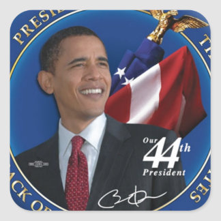 Obama 44th United States President Collection Square Sticker