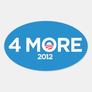 Obama 4 más años 2012 pegatinas pegatina ovalada