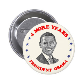 Obama 4 More Years Button