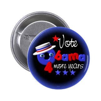 Obama- 4 more years pinback button