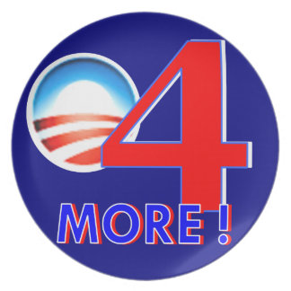 Obama - 4 more years plate