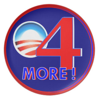 Obama 4 more years plate