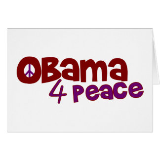 Obama 4 Peace Card