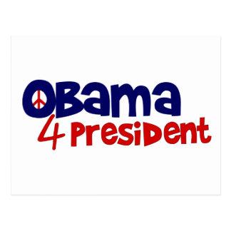 Obama 4 President Postcard