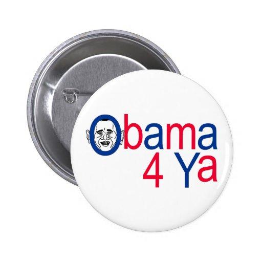 Obama 4 Ya Pin Redondo 5 Cm