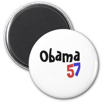 Obama, 5, 7 2 inch round magnet