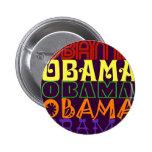 Obama 5 pin redondo 5 cm