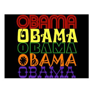 Obama 5 postcard