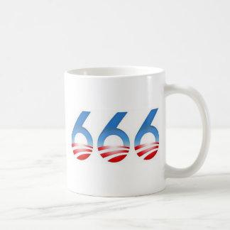 Obama 666 classic white coffee mug