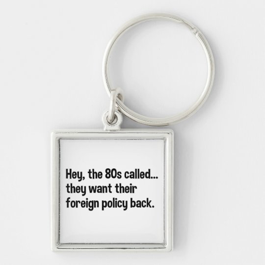 Obama 80s Foreign Policy Keychain