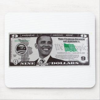 obama 9 Dollar Bill Mouse Pad