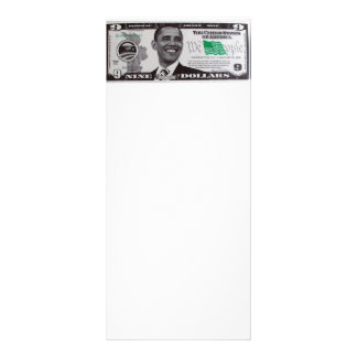 obama 9 Dollar Bill Rack Card