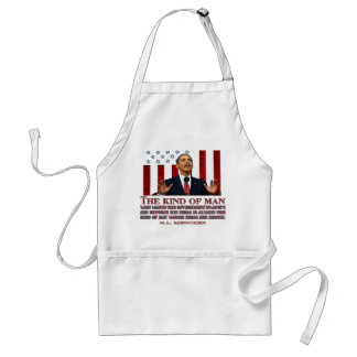 Obama- A Man with Idiotic Ideas Adult Apron