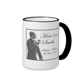 Obama a snob?! ringer coffee mug