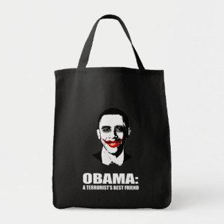 OBAMA - A TERRORIST'S BEST FRIEND TOTE BAGS