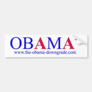Obama AA+ Downgrade Bumper Sticker Car Bumper Sticker