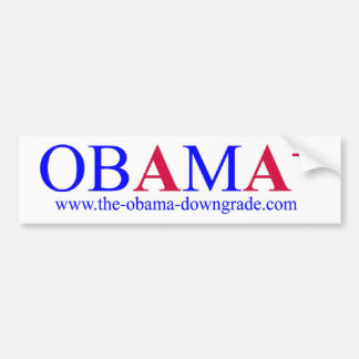 Obama AA+ Downgrade Bumper Sticker