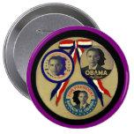 Obama, Abe, FDR y JFK Pin Redondo De 4 Pulgadas