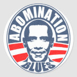 Obama Abomination Blues Classic Round Sticker