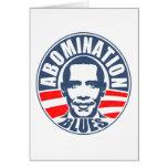Obama Abomination Blues Greeting Cards