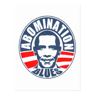 Obama Abomination Blues Postcard
