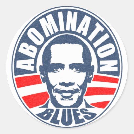 Obama Abomination Blues Sticker