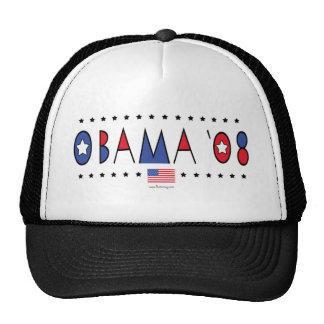 Obama abstracto 2008 gorras