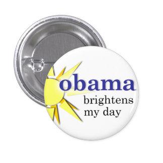 Obama aclara mi día - mini-size pin redondo de 1 pulgada