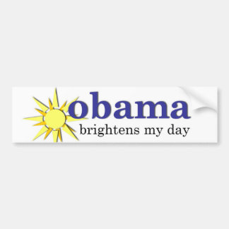 Obama aclara mi día pegatina para auto