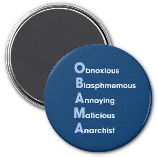 Obama Acronym 3 Inch Round Magnet