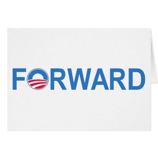 Obama adelante tarjeta de felicitación