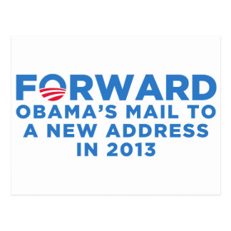 Obama adelante postal