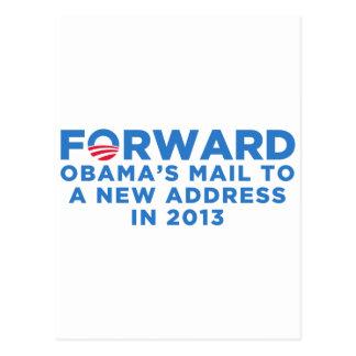 Obama adelante tarjeta postal