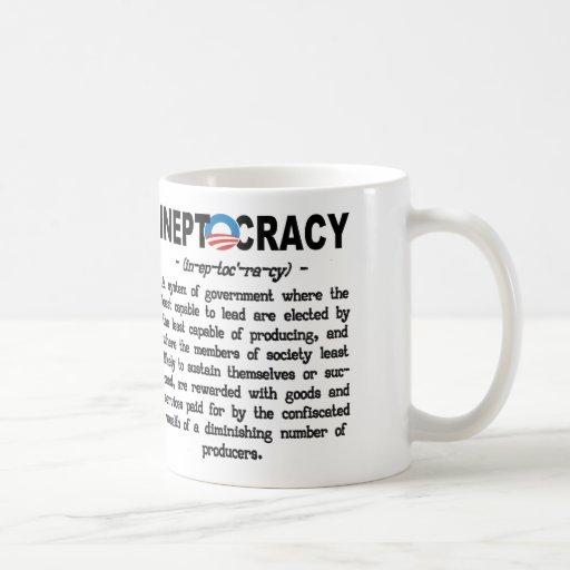 Obama Administration Ineptocracy Definition Mug Coffee Mug