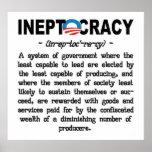 Obama Administration Ineptocracy Poster (large)