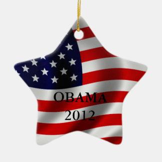 Obama Adorno Navideño De Cerámica En Forma De Estrella