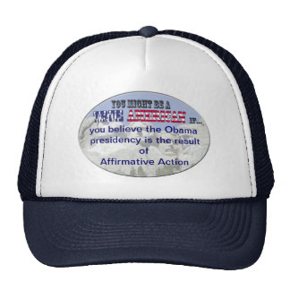 obama affirmative action trucker hat